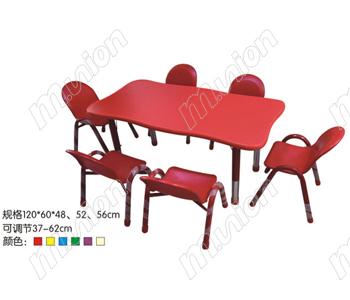 防火板桌椅 HL61017