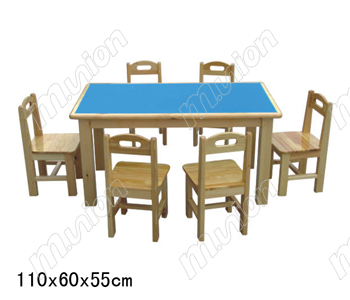 幼儿双人桌椅 HL61042