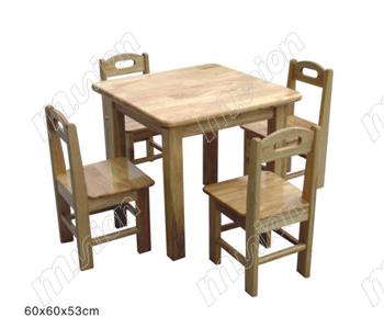 木质幼儿桌椅 HL61044