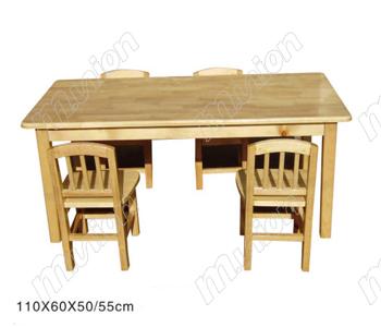 木质幼儿六人桌 HL61045