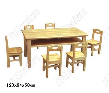 幼儿原木椅子 HL61048